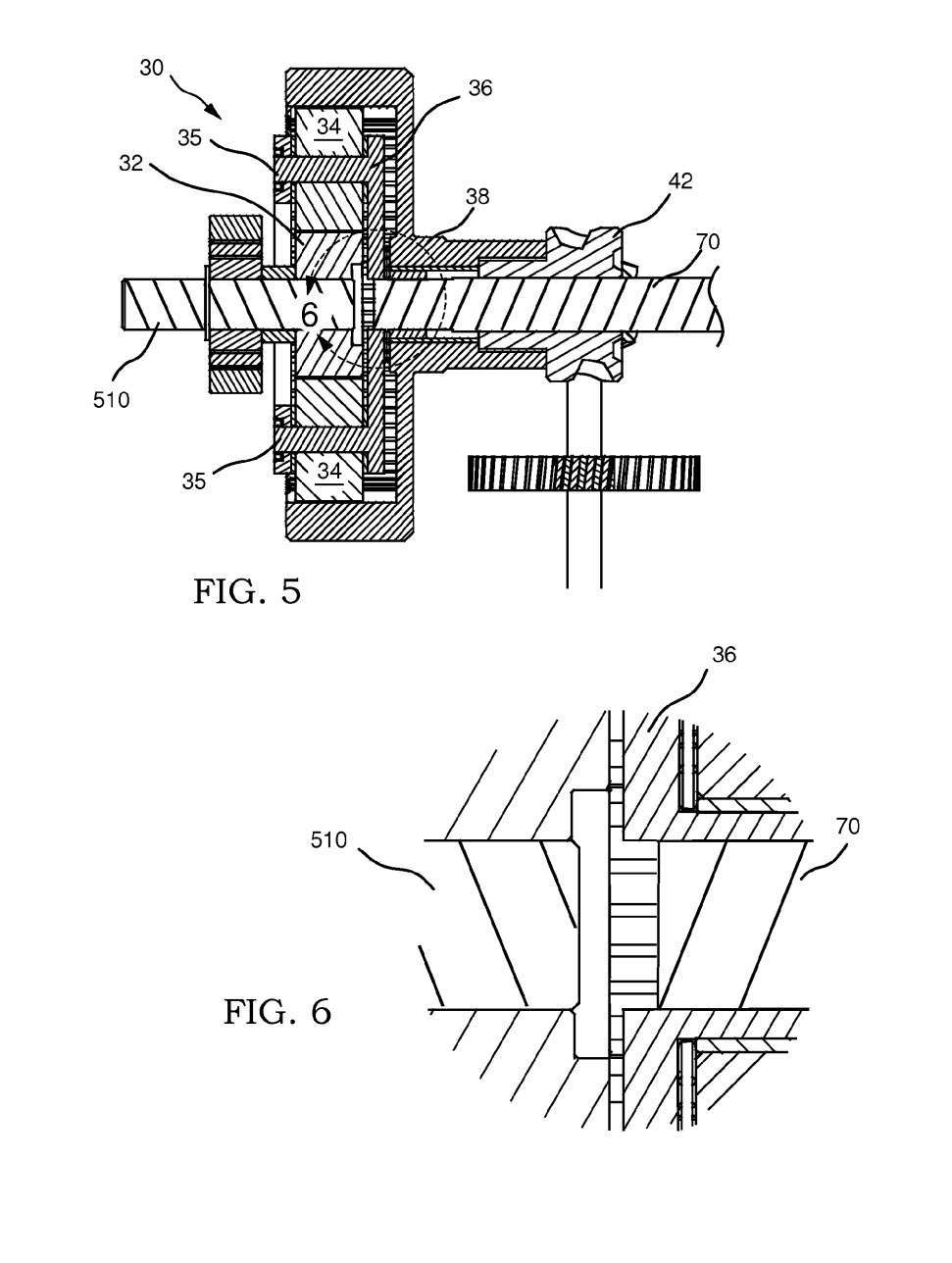 patent drawing gears sectioned
