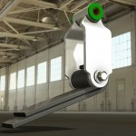 Virtual CAD model of an automotive shackle and spring