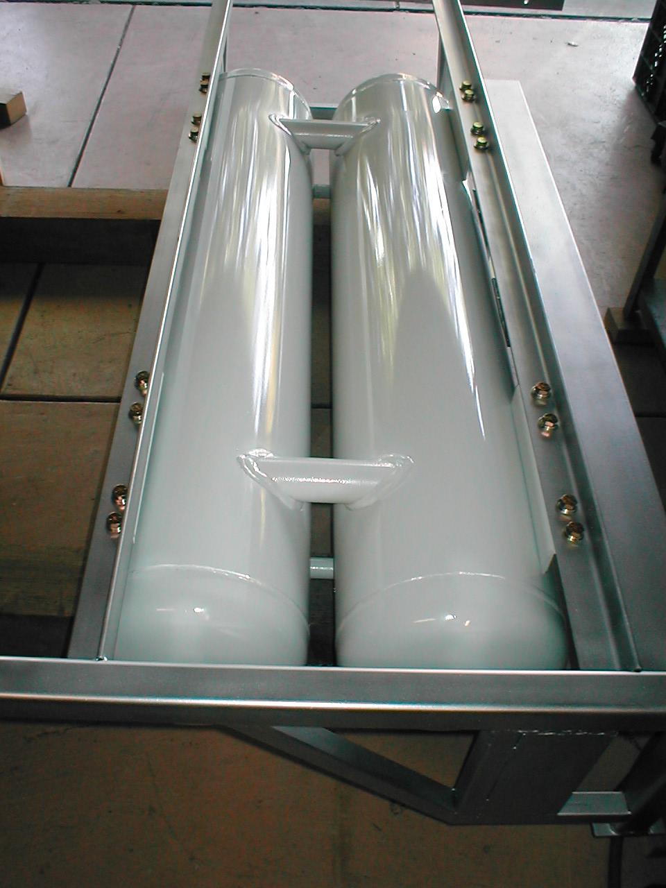 frame for propane tanks