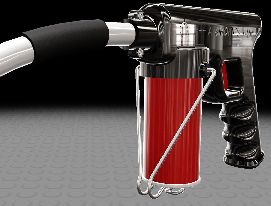 plastic virtual model of a smoke detector tester