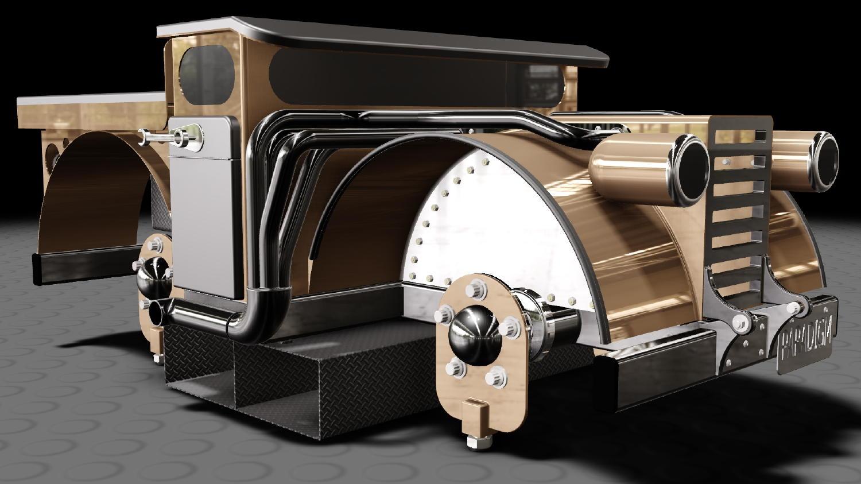 Virtual model using CAD
