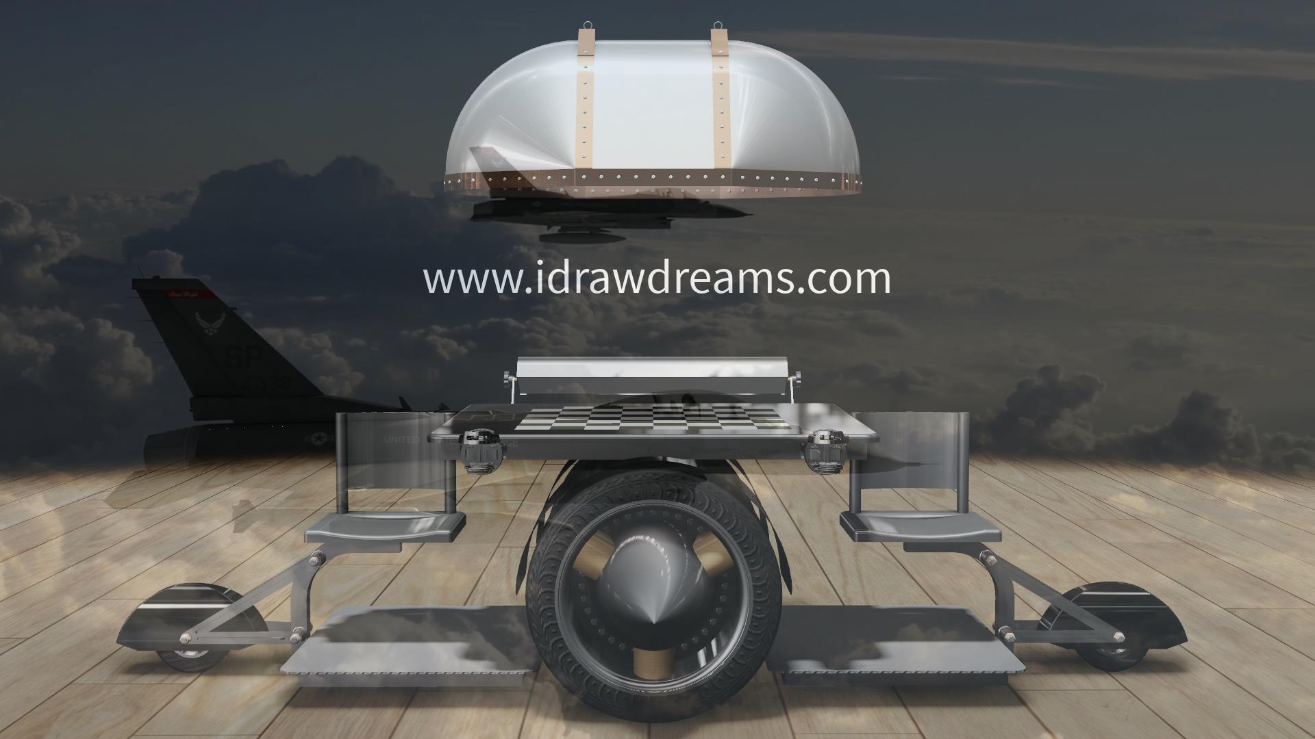 Aviator Chess Board by I Draw Dreams